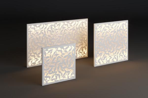 Illuminated outdoor panel
