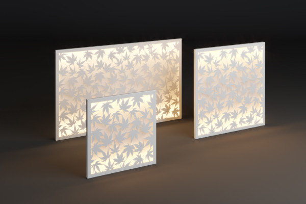 Illuminated outdoor decorative panel