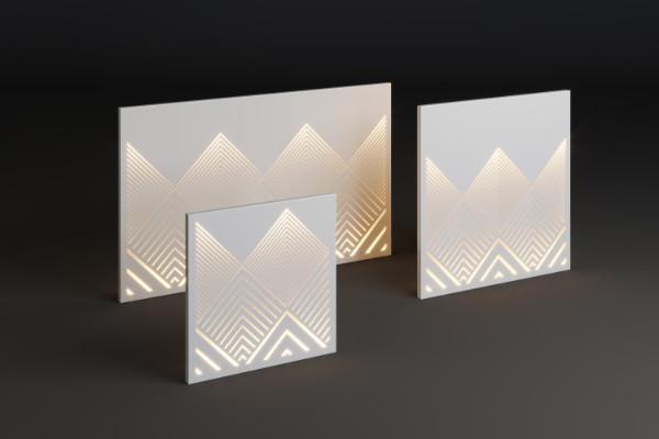 Illuminated decorative panel