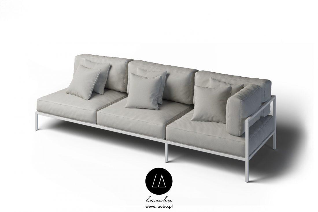 Contemporary style weatherproof sofa
