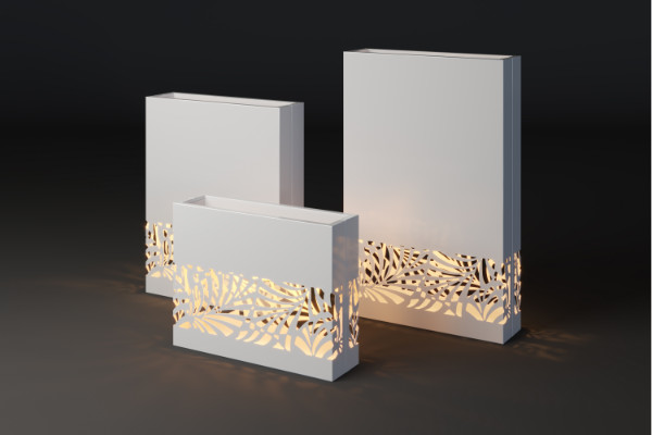 Elegant terrace illuminated planters Lumi lif