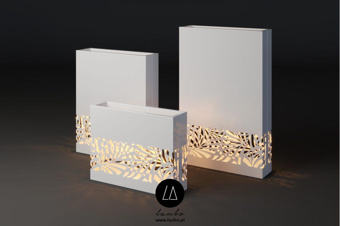 Illuminated contemporary planter