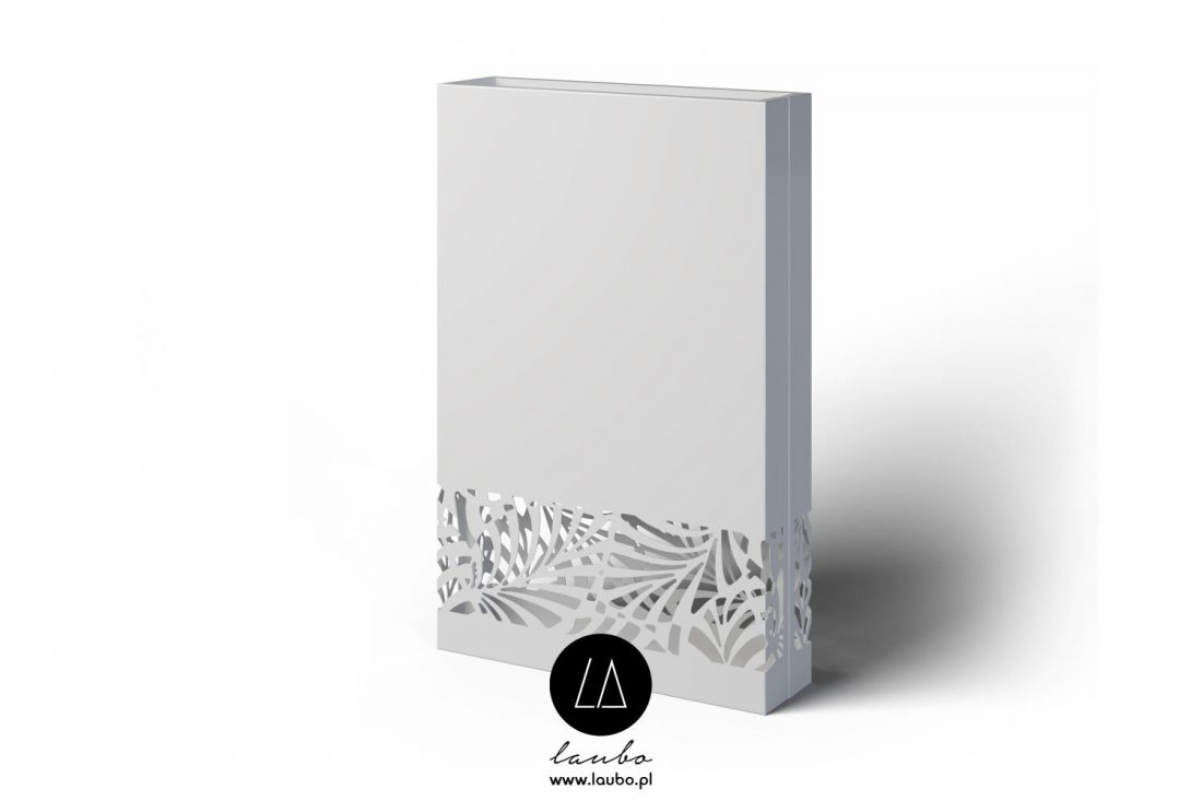 Tall decorative divider with light