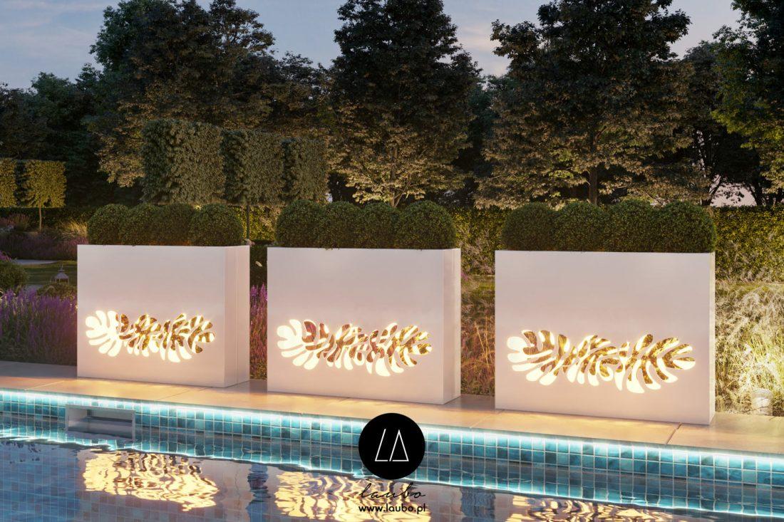 Modern illuminated planters