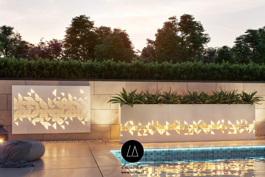 Illuminated partition planters