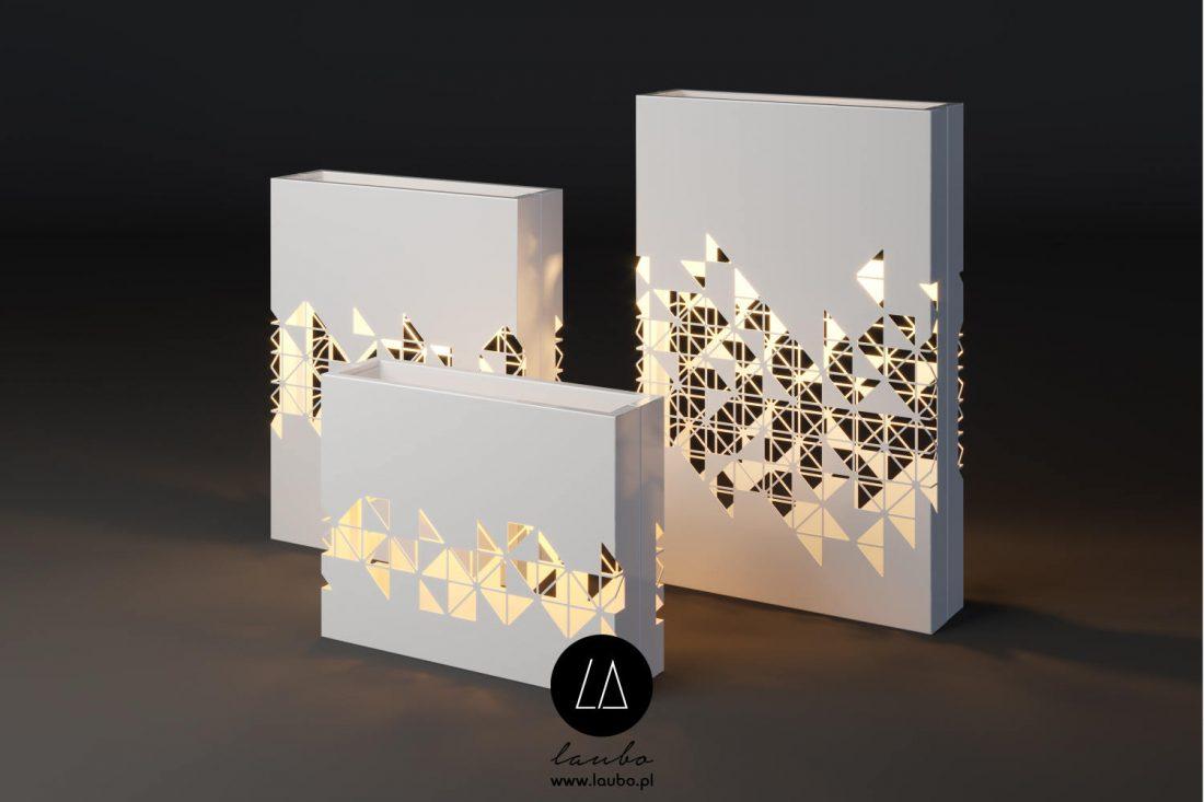 Illuminated planters terrace