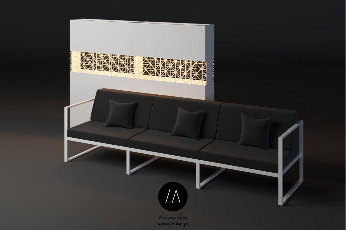 Terrace illuminated partition planter