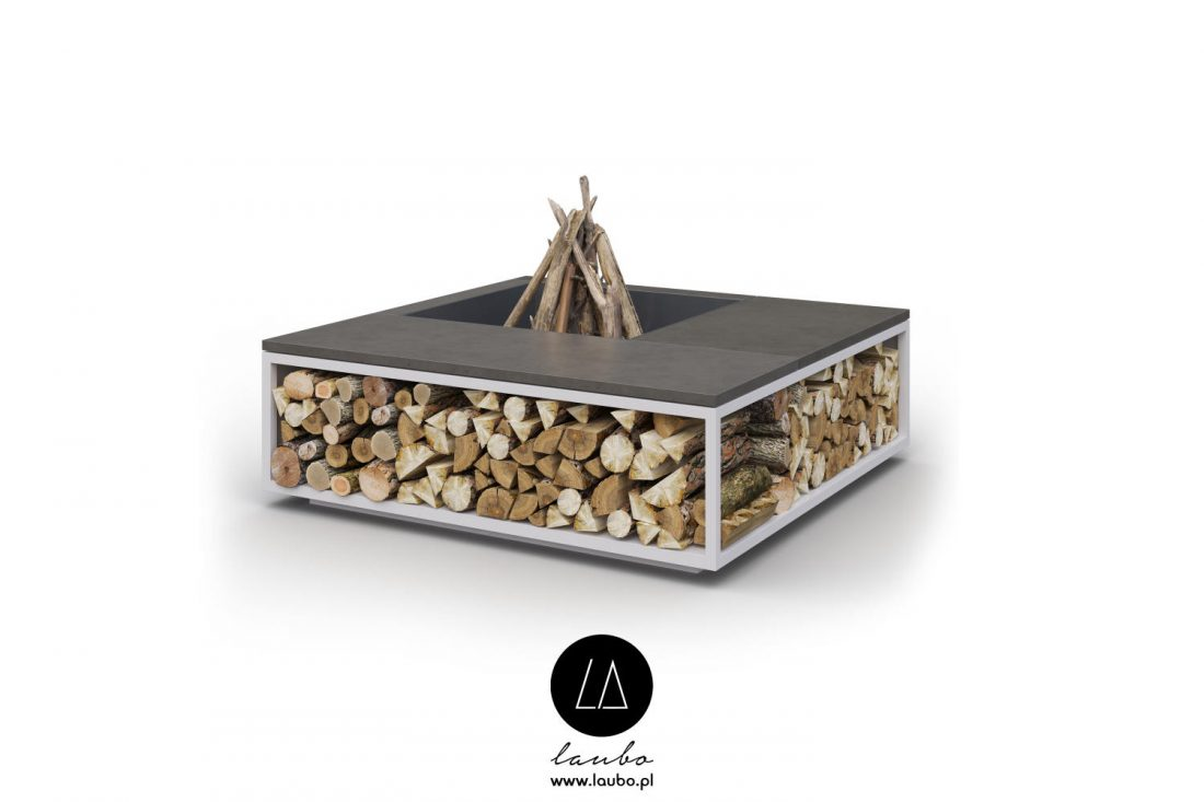 Square outdoor fireplace Laubo Scale