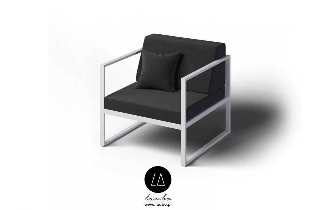 Minimalistic outdoor armchair