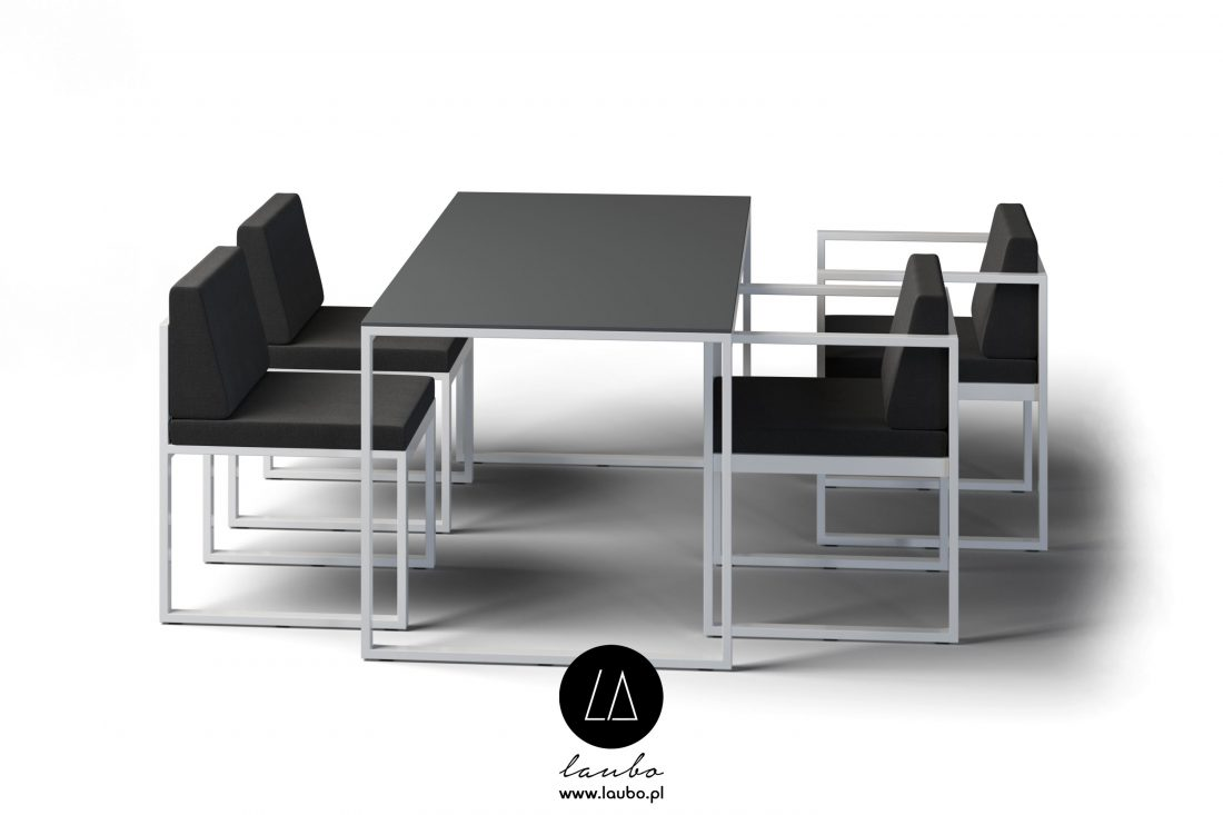 Modern dining outdoor table with chair
