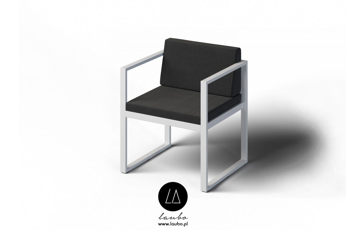 Modern outdoor chair with armrests