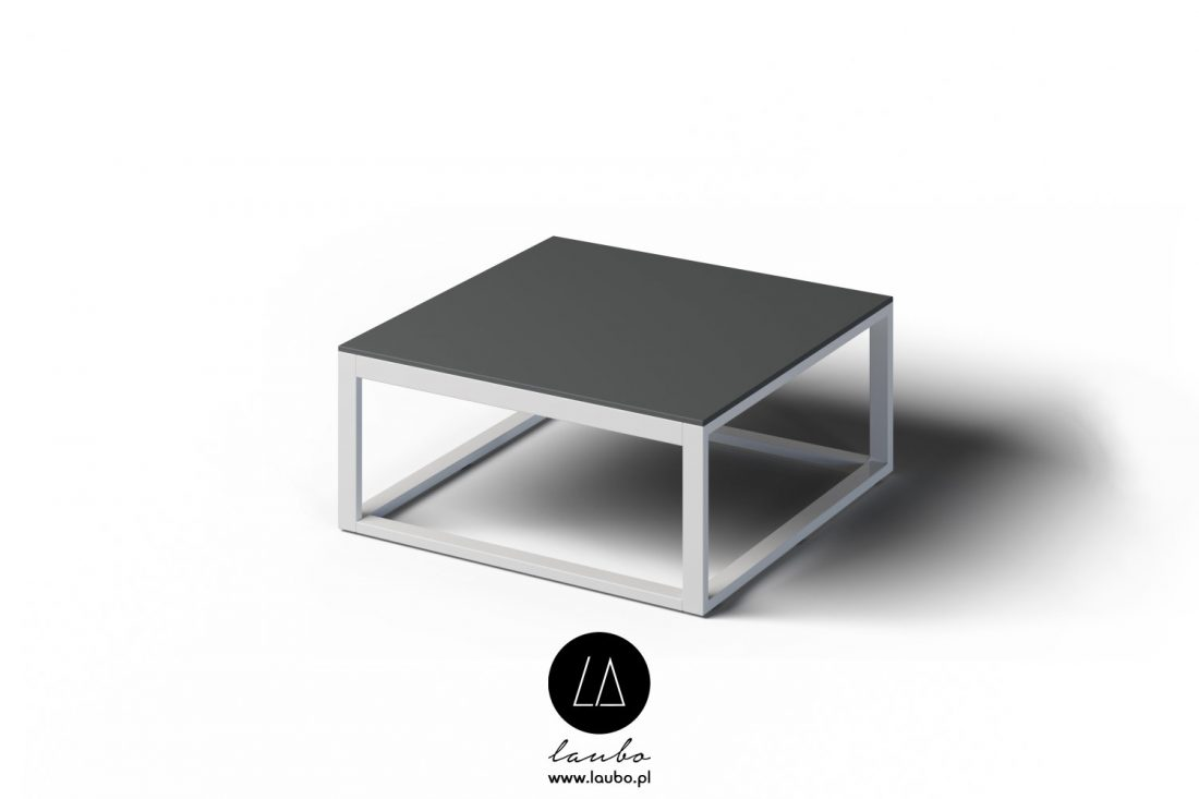 Outdoor modern coffee table square