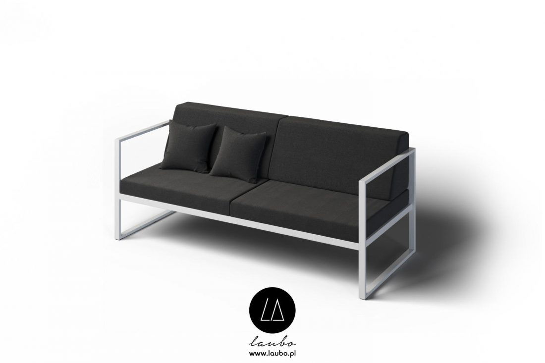 Modern contemporary sofa with armrests