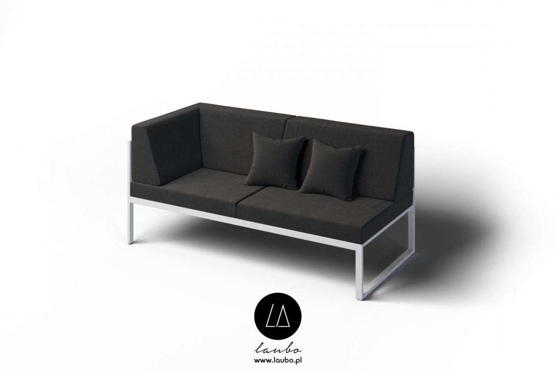 Luxurious corner sofa for outdoors 2-seat
