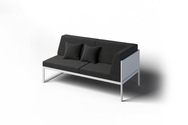 Corner sofa for company garden
