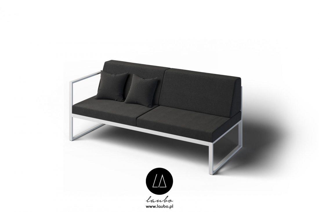 Minimalistic Outdoor 2 Seater Sofa Left Garden Sofa Laubo Formal