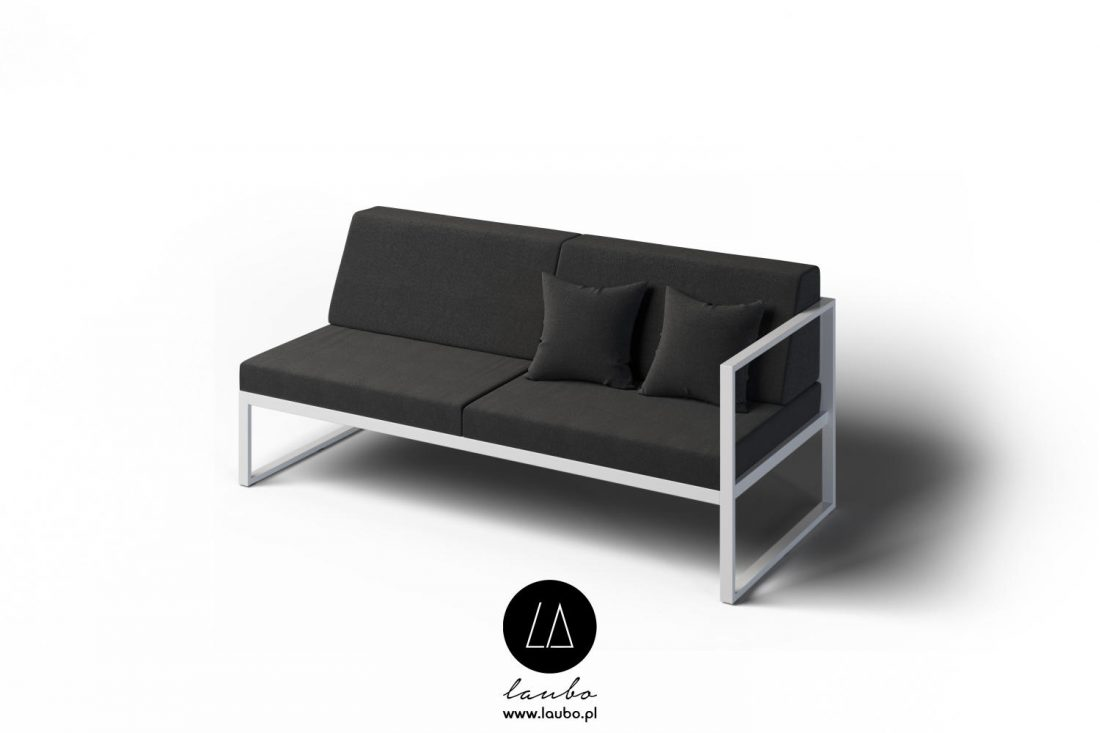 Contemporary 2 seat outdoor sofa right