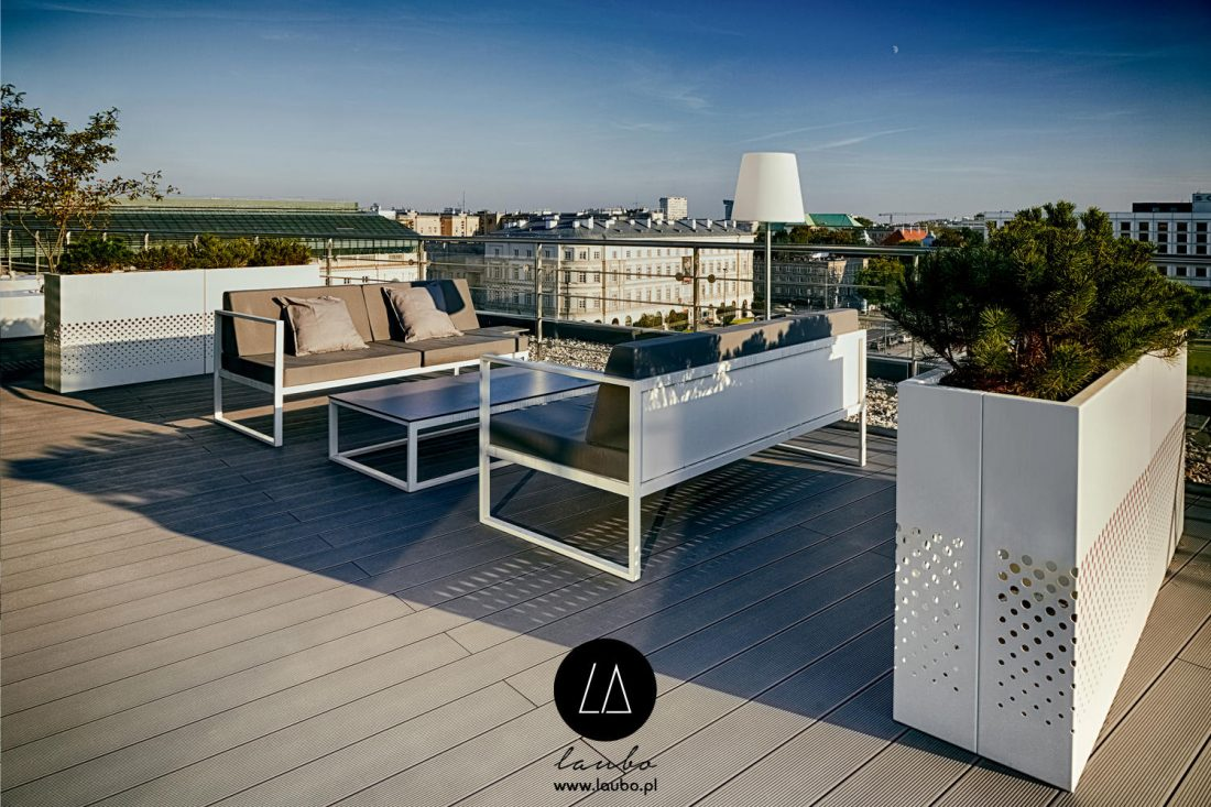 Restaurant rooftop furniture