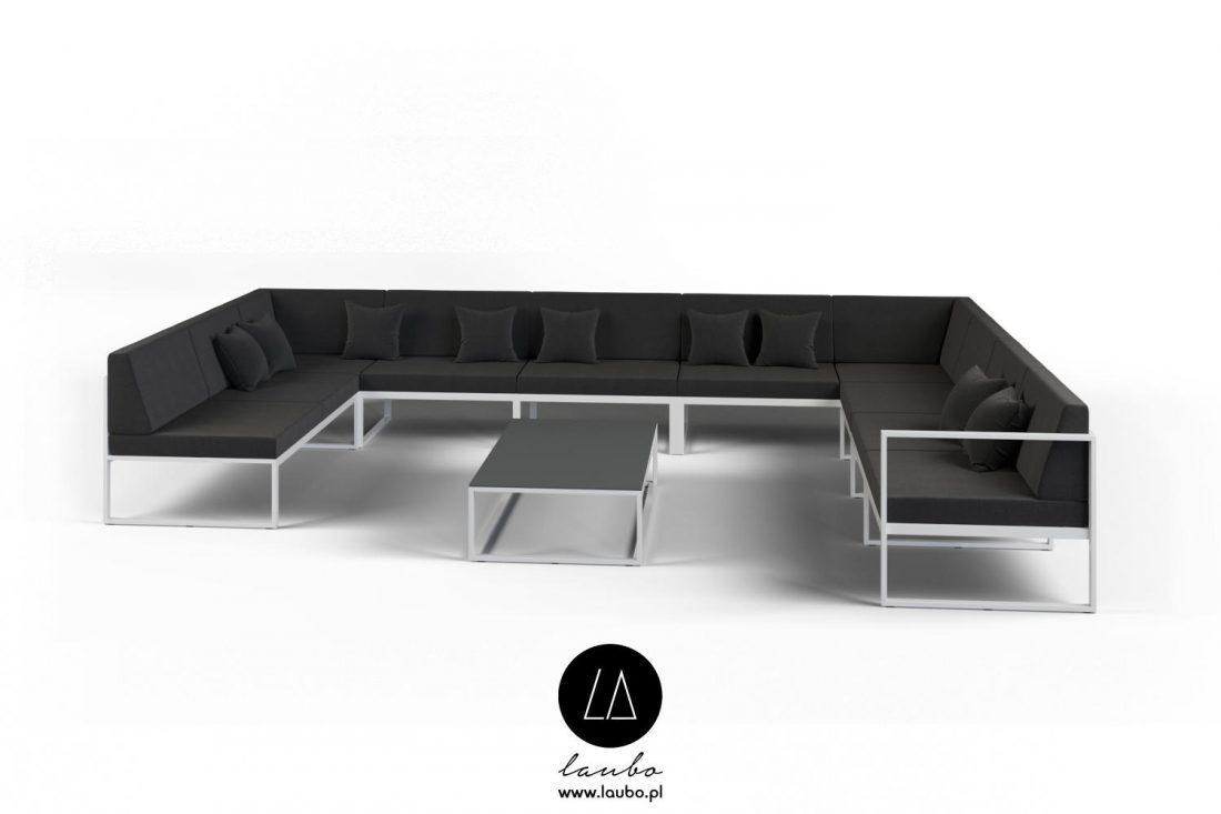 Minimalistic outdoor furniture set