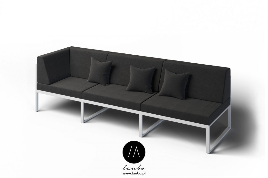 Outdoor corner sofa lounge 3-seat