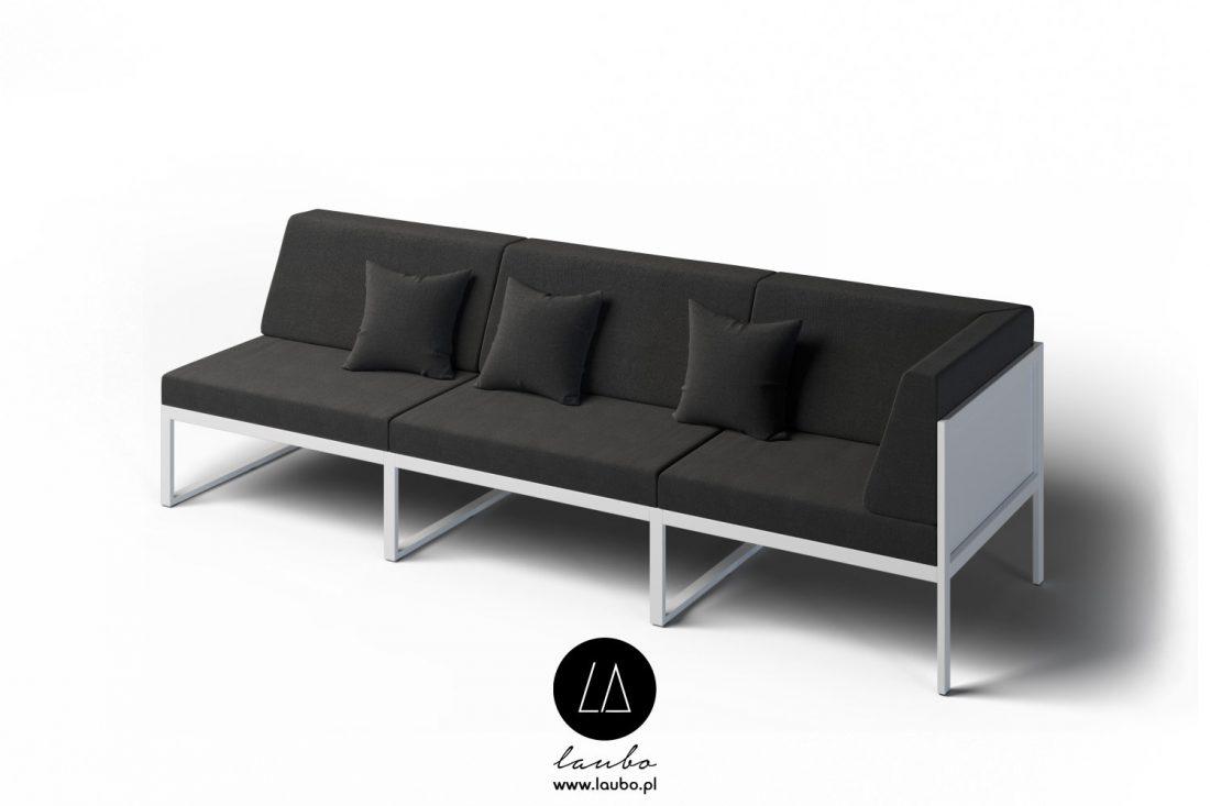 Garden couch corner sofa 3-seat