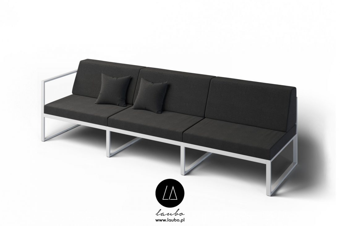 Modern terrace lounge 3-seater left