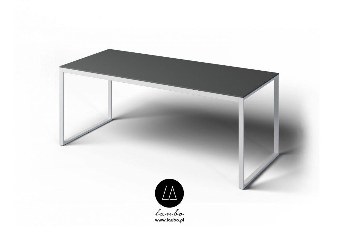 Modern rectangular table for outdoors