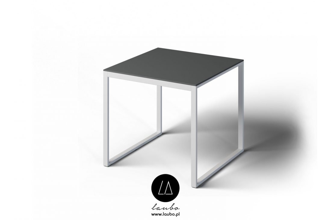 Modern square outdoor dining table