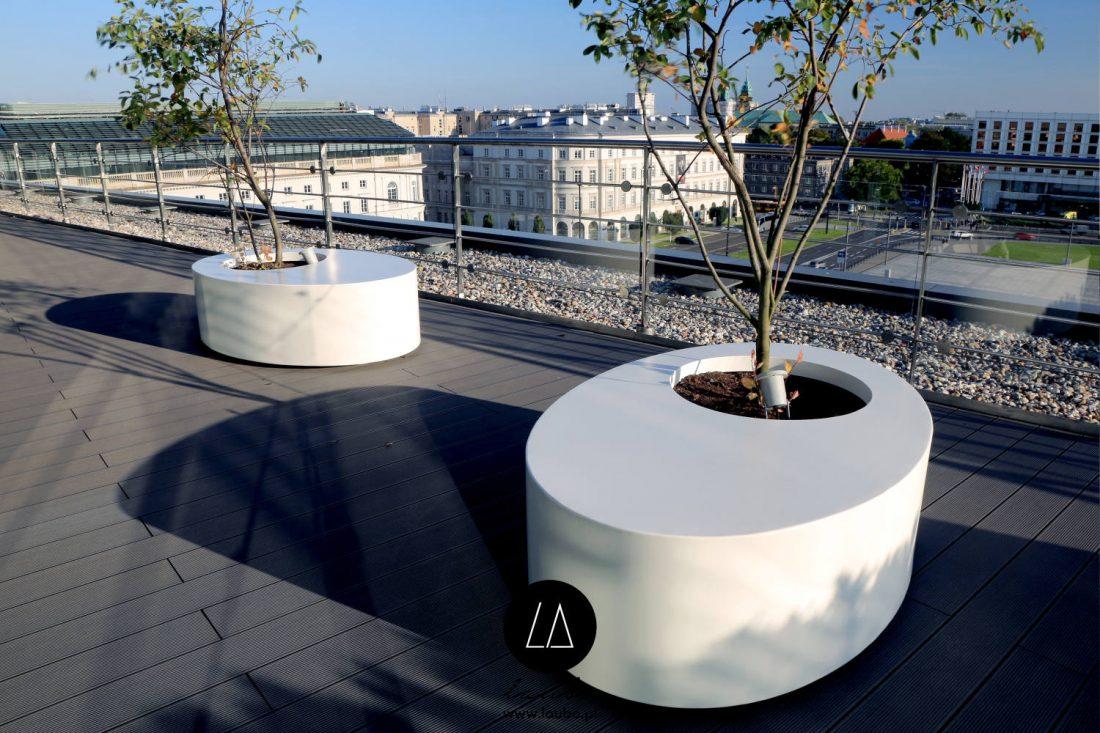 Modern office planters Laubo Ovo
