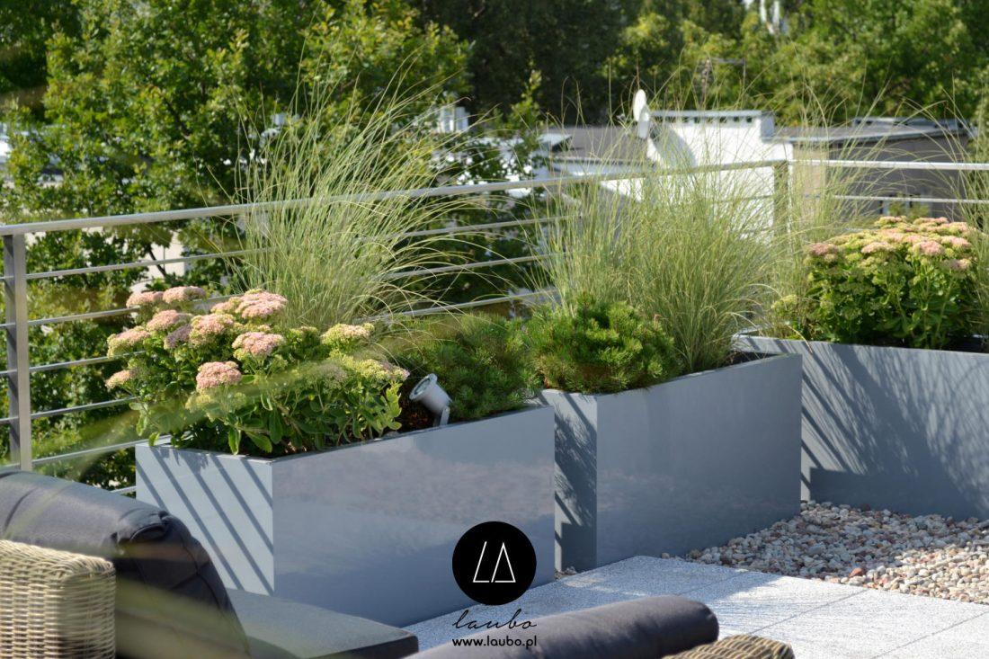 Lightweight planter for garden terrace Laubo Nava