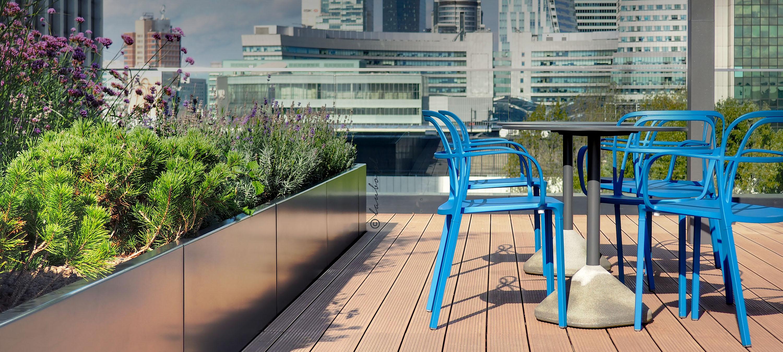 Modern green terrace
