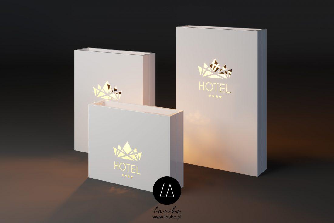 Podświetlane donice z logo