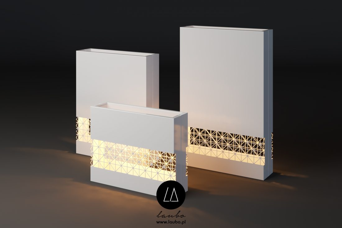 Donica z podświetlanym wzorem Lumi Tile Strip