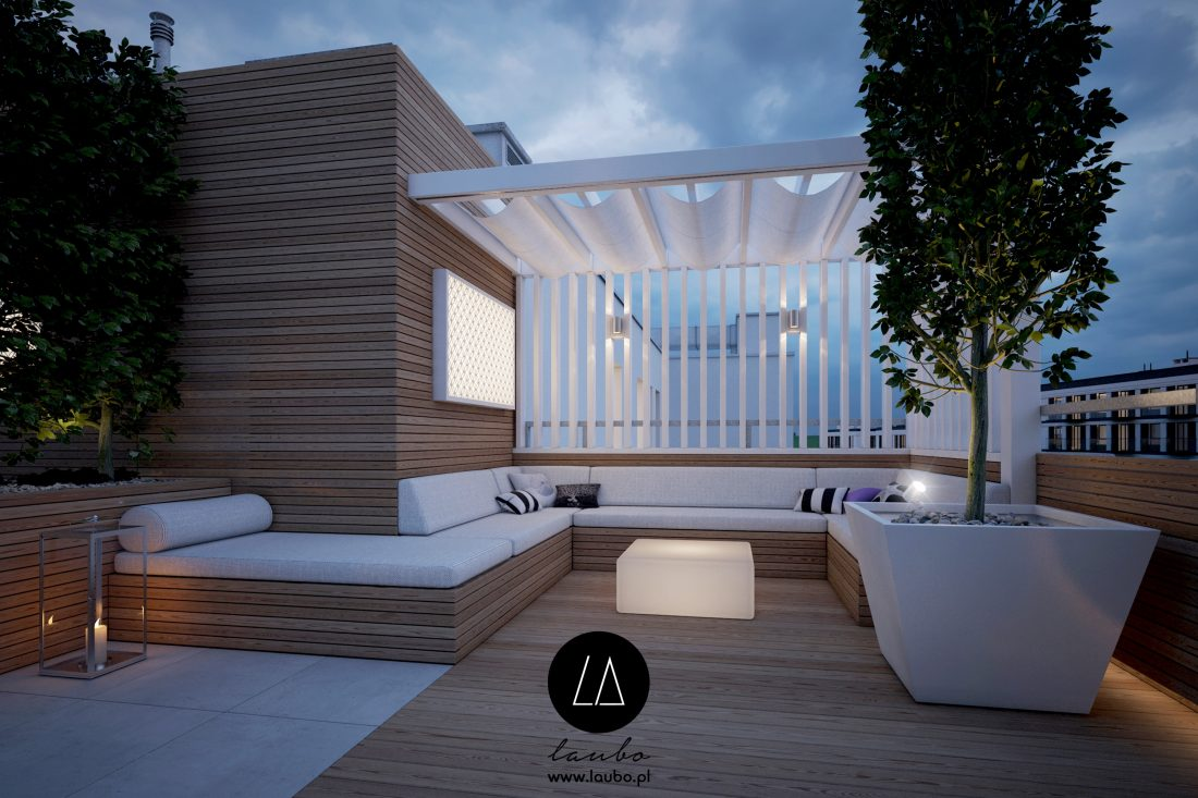 Duża donica zewnętrzna Design Arco