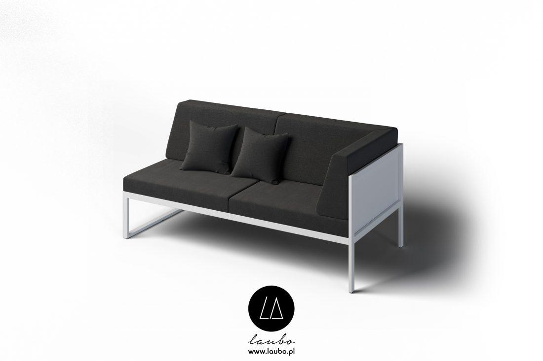 Ekskluzywna sofa ogrodowa narożna 2-osobowa prawa Formal