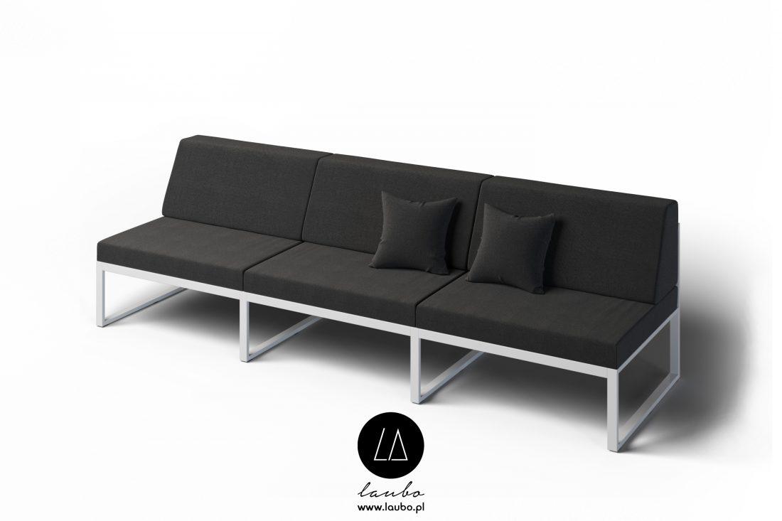 Elegancka sofa ogrodowa 3-osobowa Formal