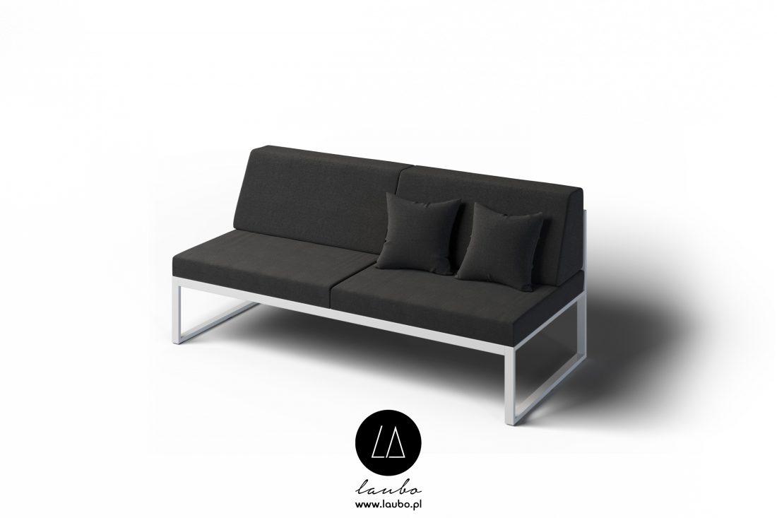 Elegancka zewnętrzna sofa 2-osobowa Formal