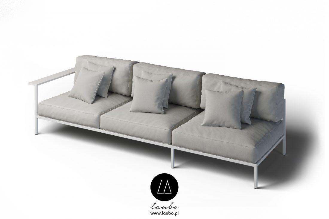 Kanapa ogrodowa sofa 3-osobowa lewa Cosi