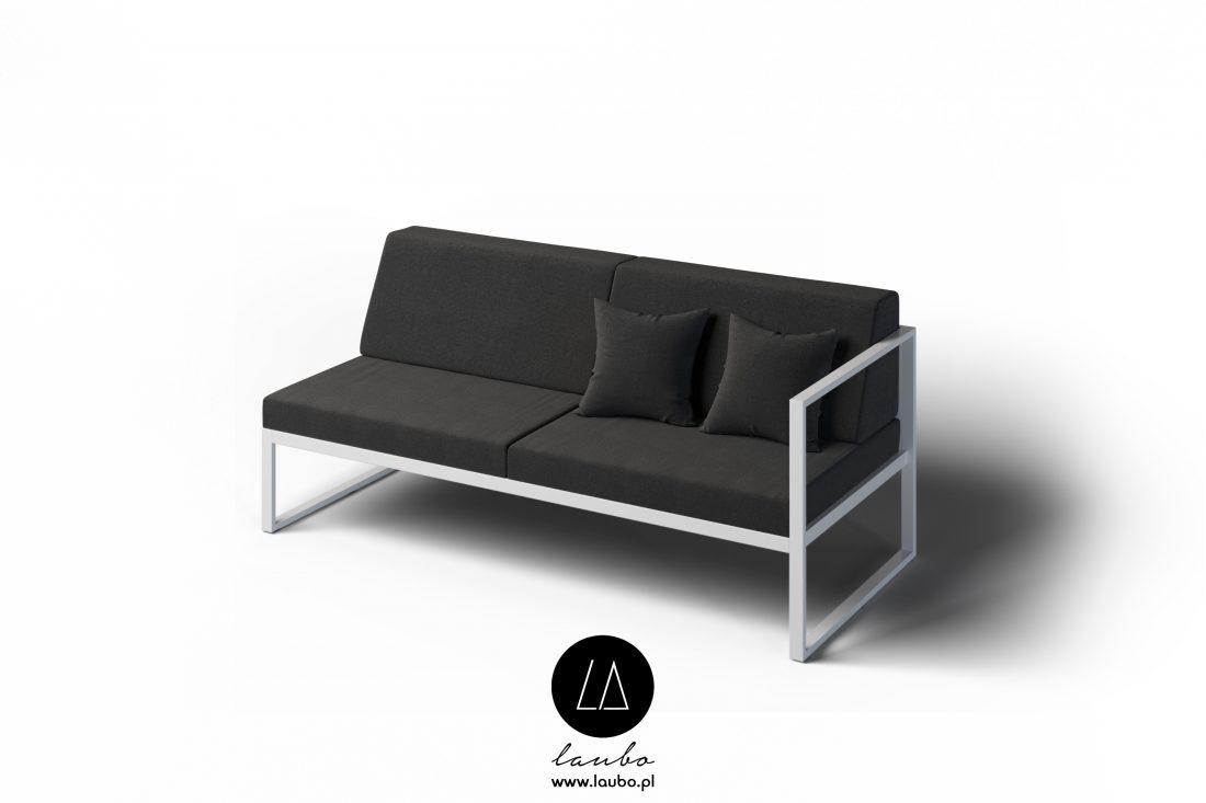 Minimalistyczna sofa na taras 2-osobowa prawa Formal