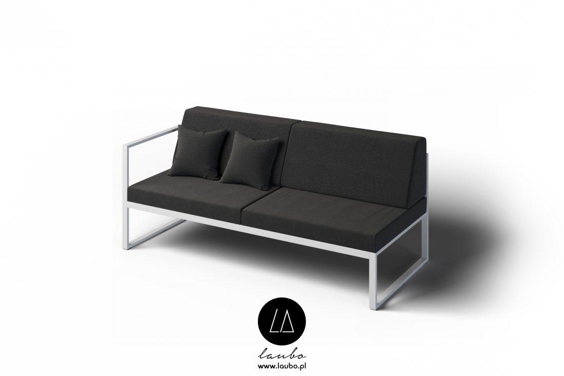 Minimalistyczna sofa zewnętrzna 2-osobowa lewa Formal