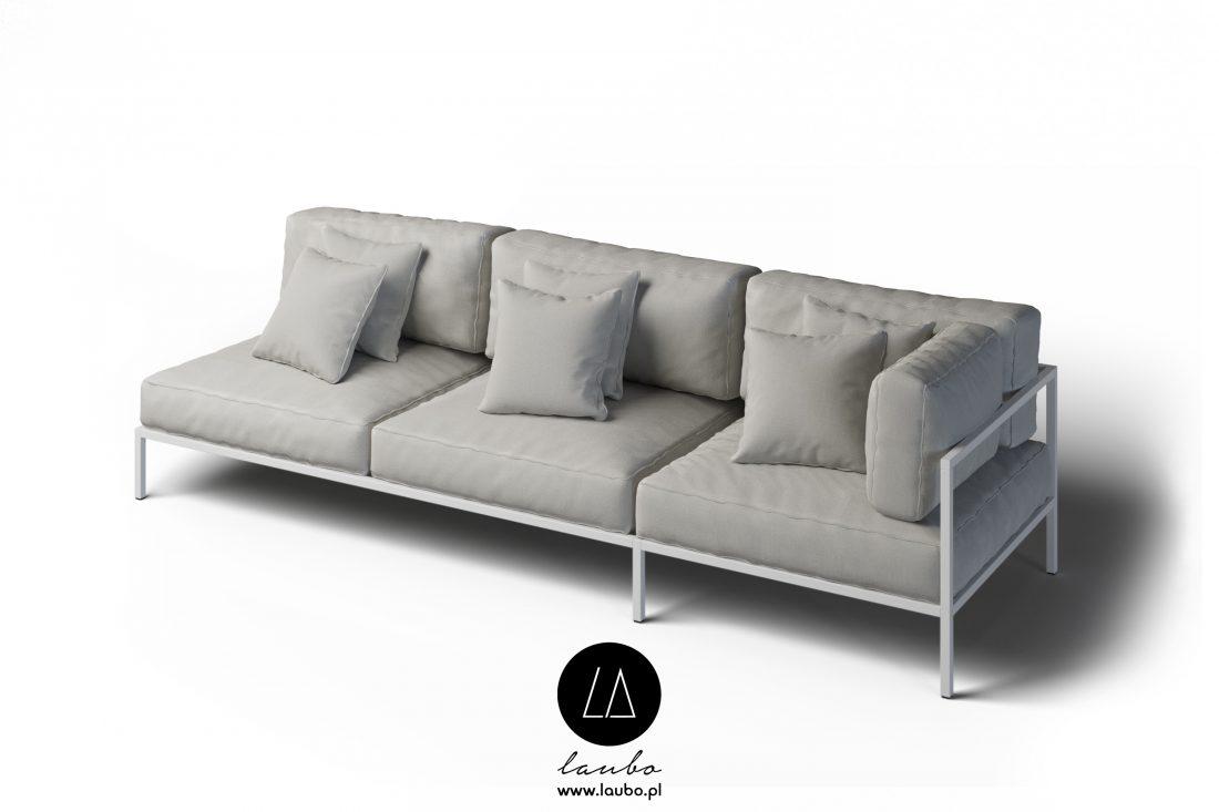 Nowoczesna sofa na zewnątrz narożna 3-osobowa prawa Cosi