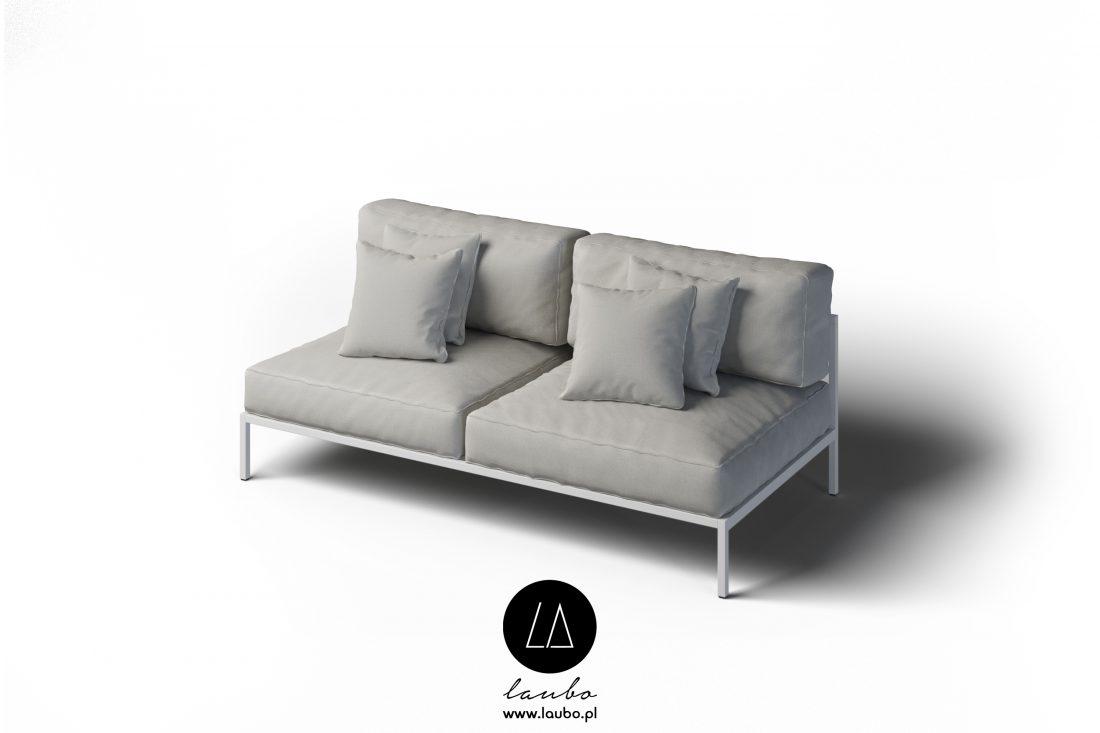 Nowoczesna sofa ogrodowa 2-osobowa Cosi