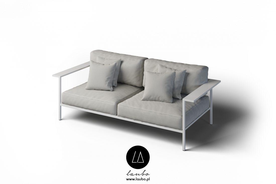 Nowoczesna sofa tarasowa 2-osobowa z podłokietnikami Cosi