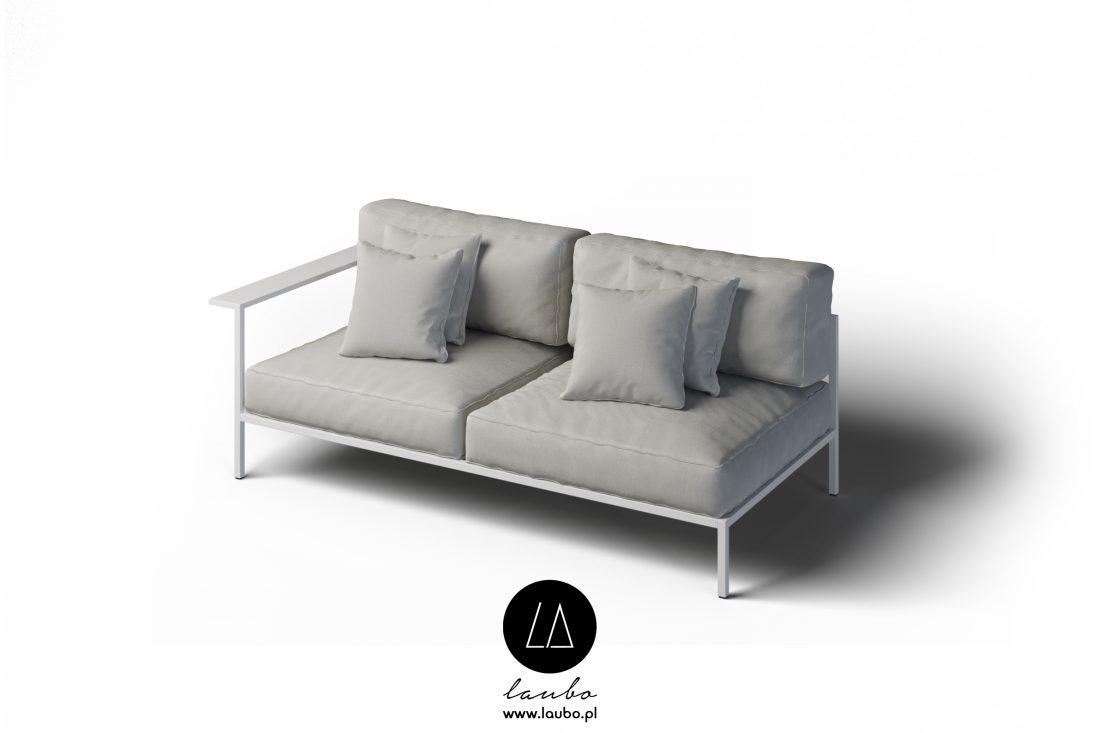 Nowoczesna sofa zewnętrzna 2-osobowa lewa z podłokietnikiem Cosi