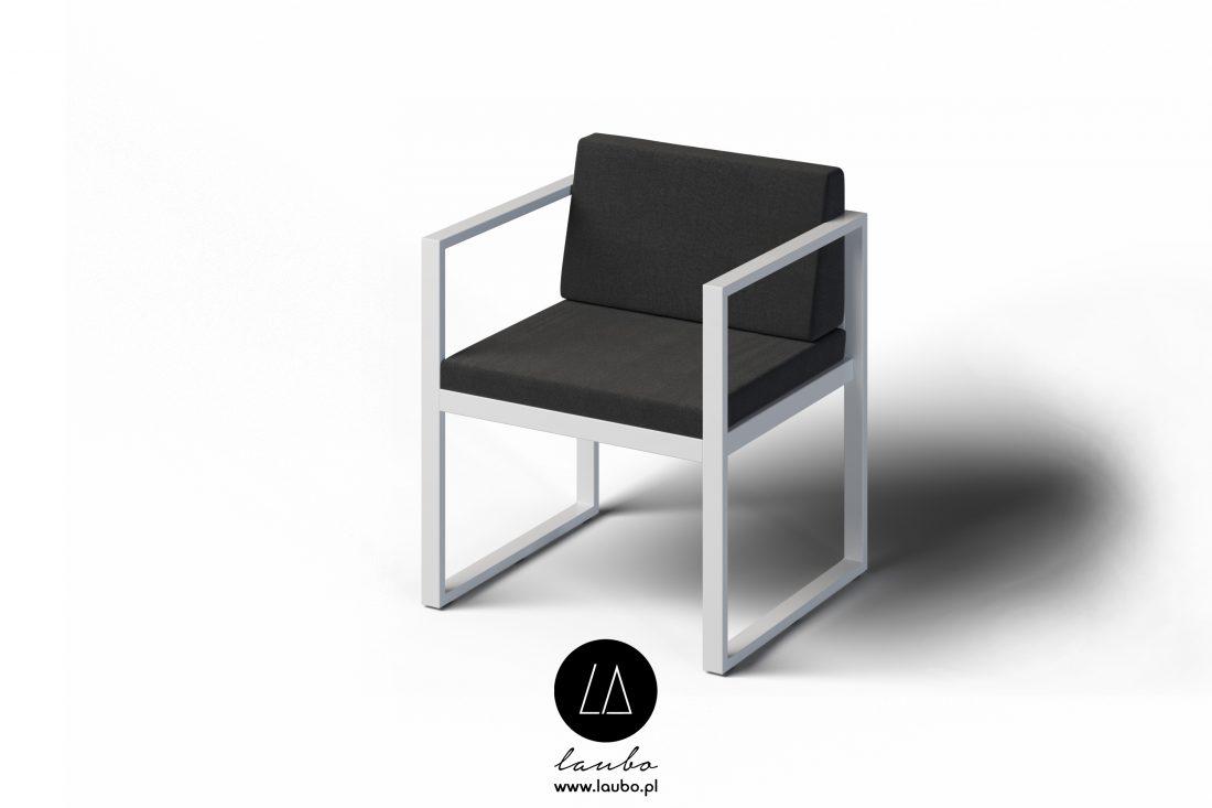 Nowoczesne krzesło ogrodowe Formal z podłokietnikami