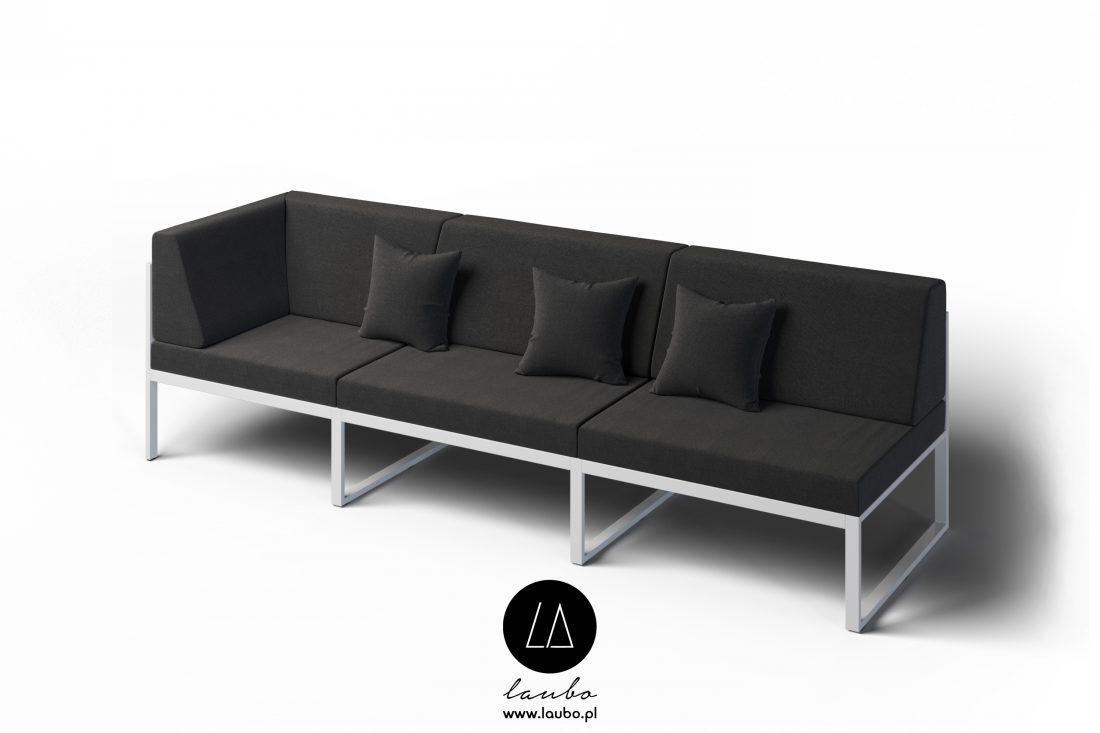 Sofa do zastosowania na zewnątrz narożna 3-osobowa lewa Formal