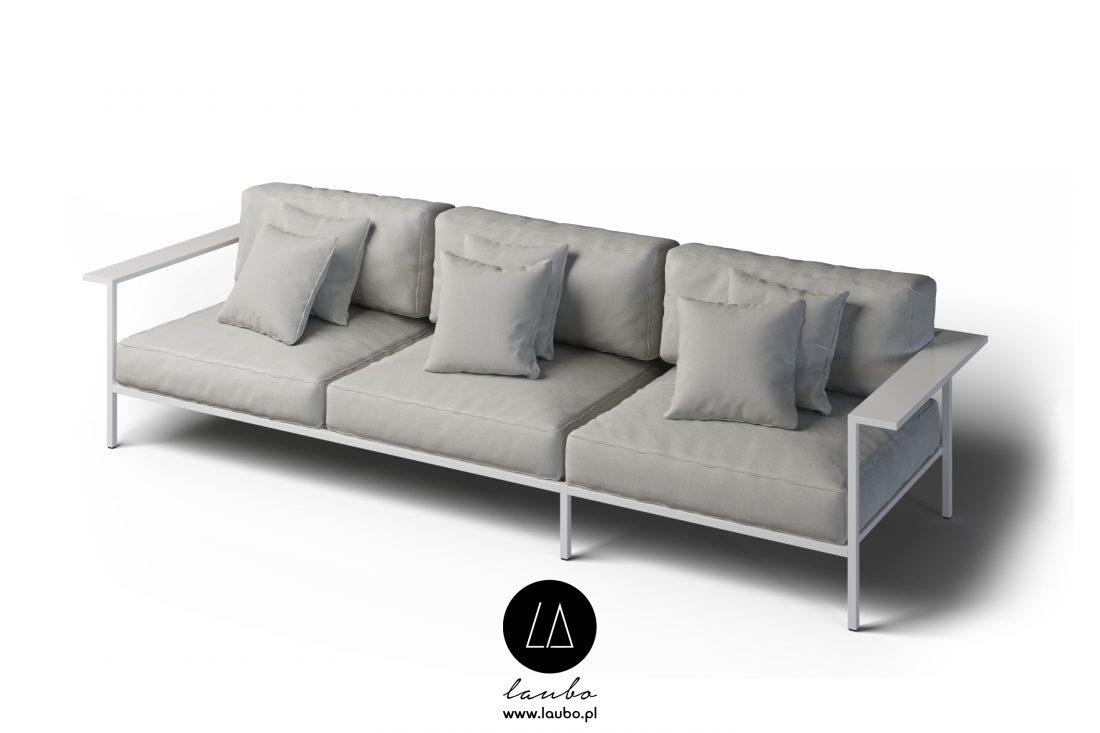 Sofa na taras 3-osobowa z podłokietnikami Cosi