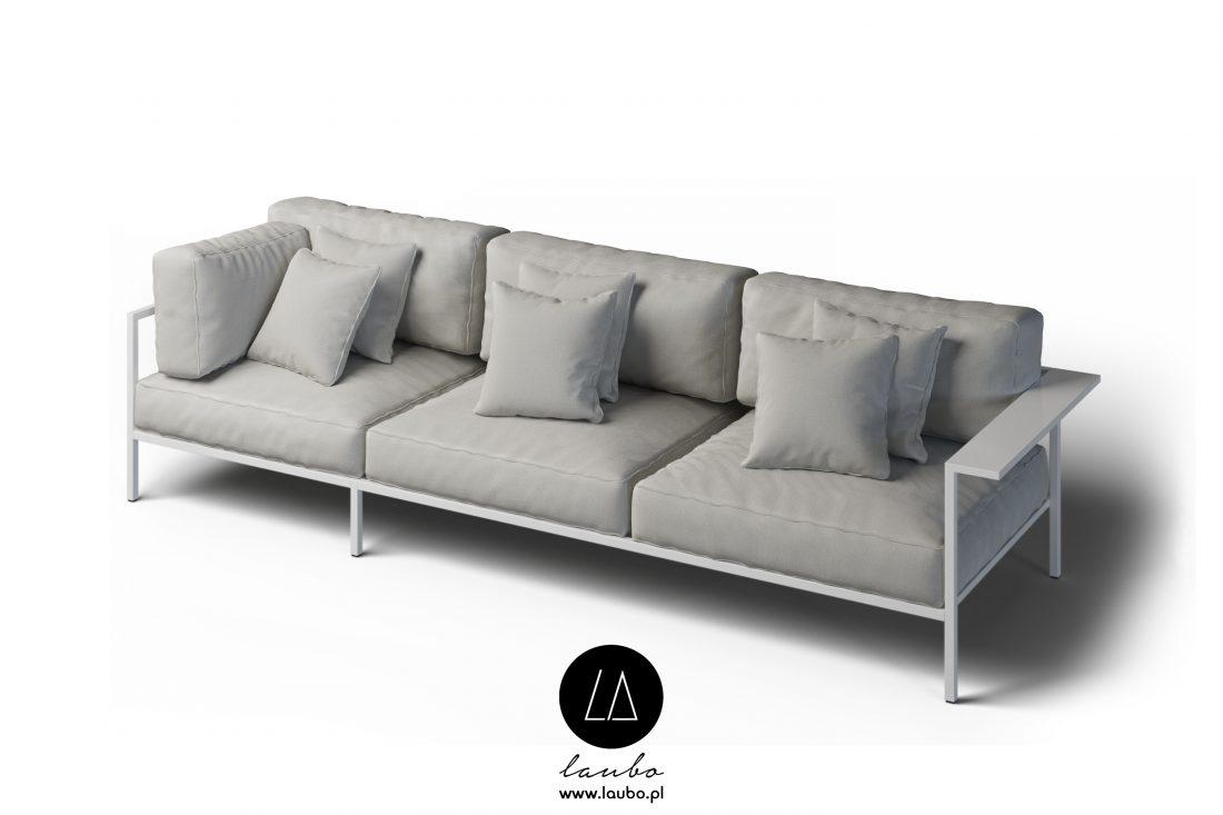 sofa tarasowa narożna 3-osobowa lewa z podłokietnikiem Cosi