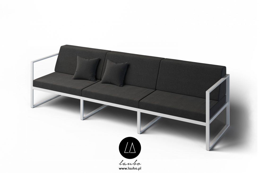 Wypoczynek ogrodowy sofa 3-osobowa z podłokietnikami Formal