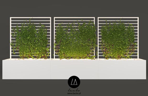 Modern trellis for garden planters